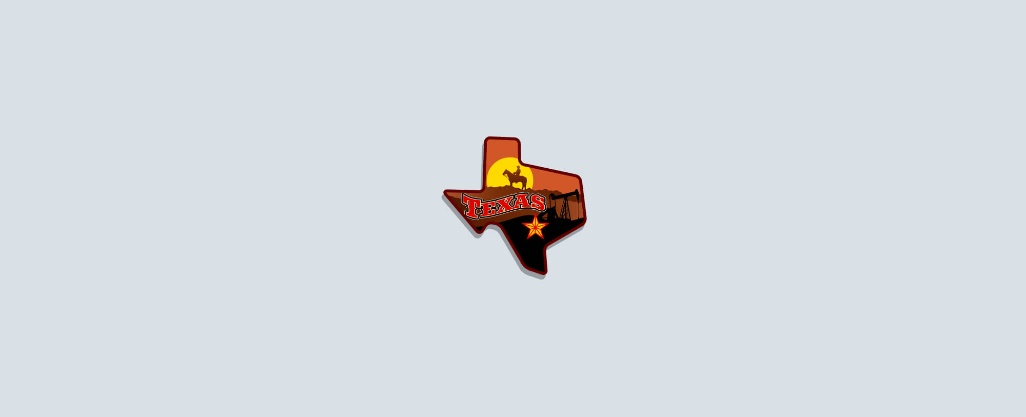 An illustration of the state of Texas