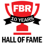 FBR 10 Years Hall of Fame Logo for Oxi Fresh Carpet Cleaning