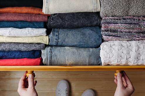 Drawer of clothing